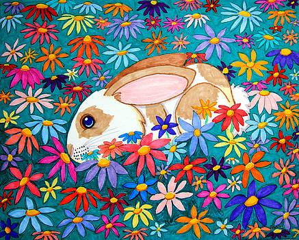 Nick Gustafson - Bunny and flowers