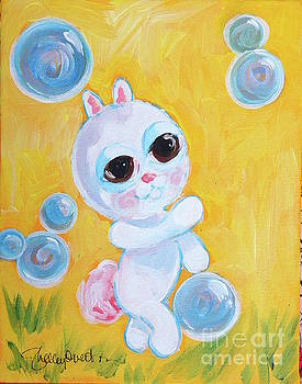 Bunny and the Bubbles Painting for Children by Shelley Overton