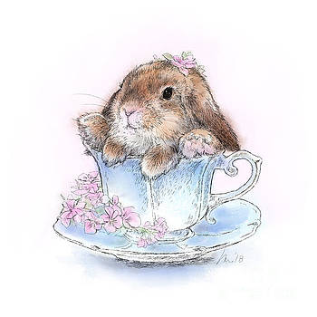 Bunny in Teacup by Laurie Musser
