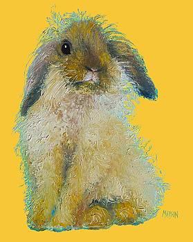 Jan Matson - Bunny Painting on yellow background