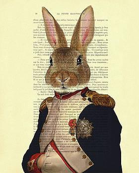 Bunny portrait illustration by Madame Memento