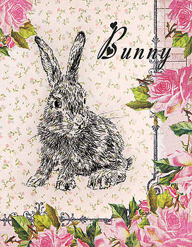 Bunny with Roses by Masha Batkova