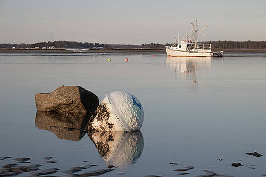 Buoy Reflection by Kirkodd Photography Of New England