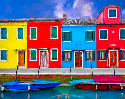 Burano Colorful Houses by Juan Carlos Ferro Duque