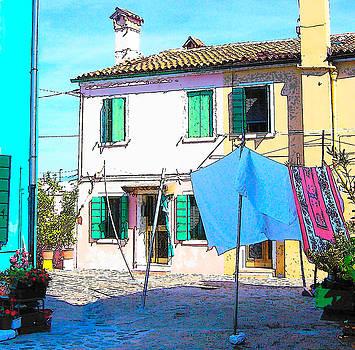 Jan Matson - Burano Island of Venice - The washing line