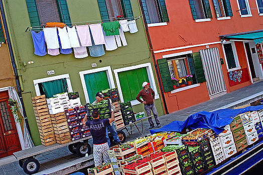 Burano Italy Canal Delivery by John Gilroy