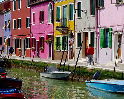 Burano Italy Canal Houses by John Gilroy