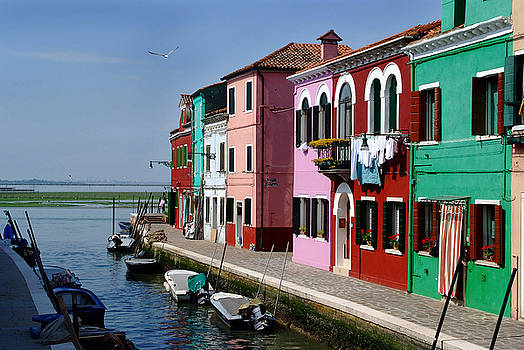 Burano Italy canal by John Gilroy