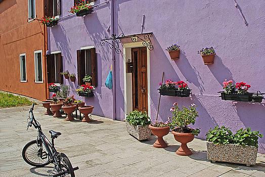 Burano Italy Courtyard by John Gilroy