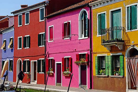 Burano Italy Houses by John Gilroy