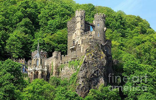 Burg Rheinstein in Rhine Gorge Germany by Louise Heusinkveld