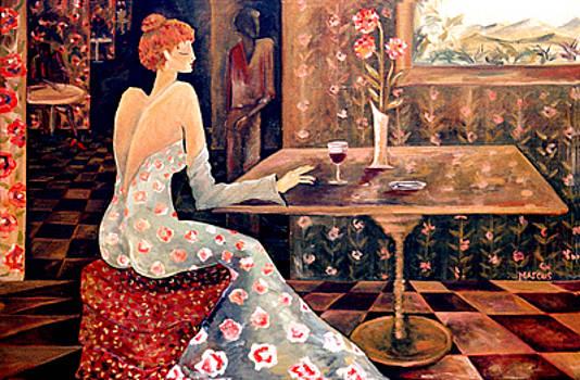 Burgundy 3 by Leslie Marcus