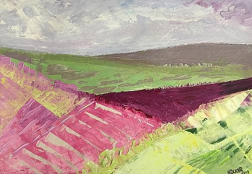 Burgundy Fields by Norma Duch