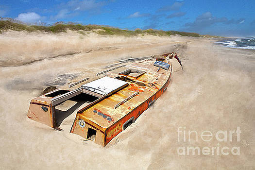 Dan Carmichael - Buried Shipwreck Boat on the Outer Banks AP