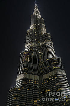Burj-Khalifa at Night by Steve Rowland