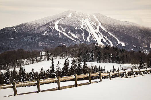 Burke Mountain and Fence by Tim Kirchoff