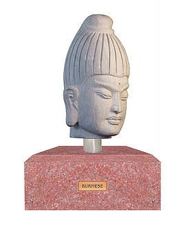 Buddha sculpture - Burmese by Terrell Kaucher
