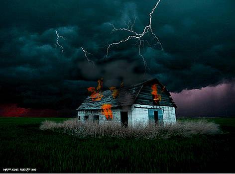 Burning barn by Matt King