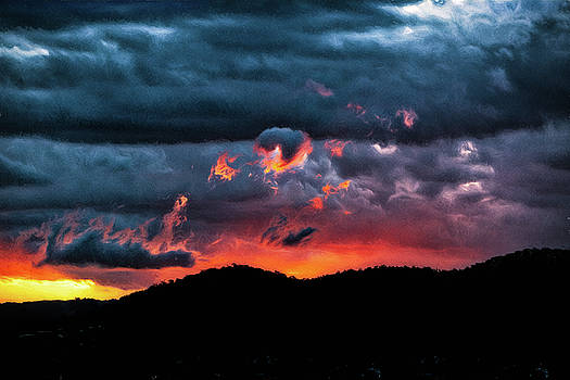 Burning Brisbane Sunset by Chris Hood