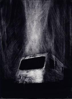 Burning Caravan by Jon Mayers