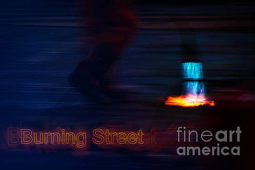 Burning Street by Hannes Cmarits