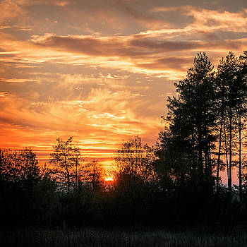 Burning sunset. Horytsya, 2014. by Andriy Maykovskyi