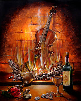 Burning Violin by Roxana Paul