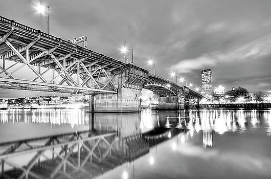 Burnside Bridge Portland Oregon at Night by Dustin K Ryan