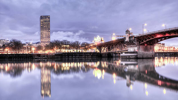Burnside Bridge Waterfront Portland Oregon by Dustin K Ryan