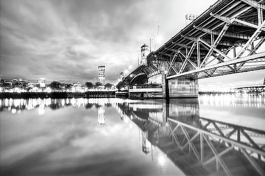Burnside Bridge Willamette River Portland Oregon by Dustin K Ryan