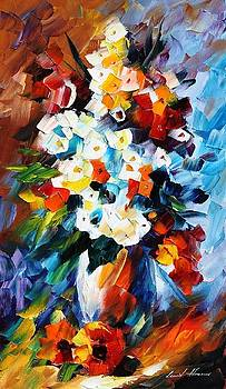 Burnt Loneliness - PALETTE KNIFE Oil Painting On Canvas By Leonid Afremov by Leonid Afremov
