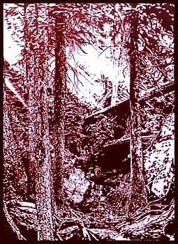 Burnt Sienna Forrest by Gabe Art Inc