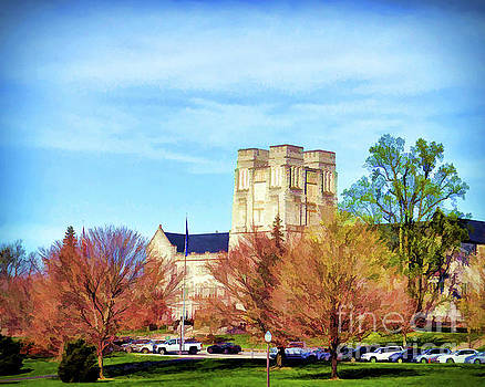Burruss Hall by Kerri Farley