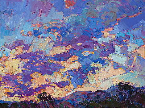 Burst of Clouds - Diptych Right Panel by Erin Hanson