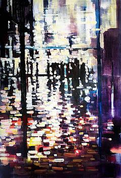 Burst of light breaking shapes by Zlatko Music