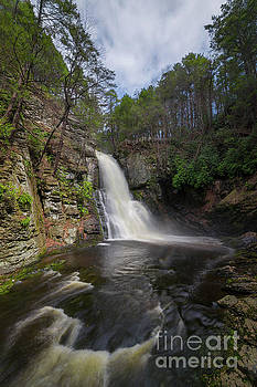 Bushkill Falls From The Gorge  by Michael Ver Sprill