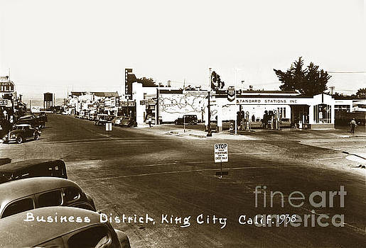 California Views Mr Pat Hathaway Archives - Business district, Standard gas station, Real Joy theater, King  City