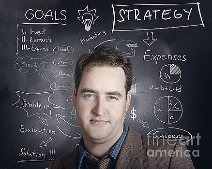 Business person thinking up strategy plan by Jorgo Photography - Wall Art Gallery