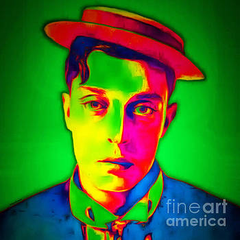 Buster Keaton 20151220 square by Wingsdomain Art and Photography