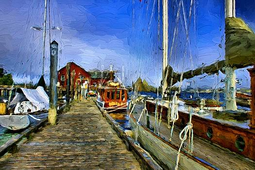 Busy at the Wharf by Rick Lawler