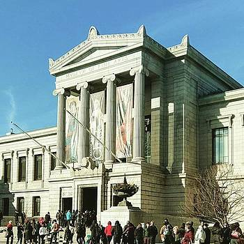 Busy Busy At @mfaboston #mlkday by Annette Holland