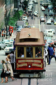 Busy Day on the California Street Cable Car Incline by Wernher Krutein