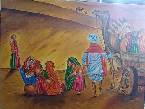 Busy desert by Tanuja Chopra
