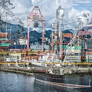 Busy Port in Vancouver, BC by Shari Whittaker