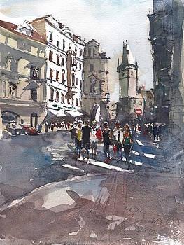 Busy summer day in Prague by Gaston McKenzie