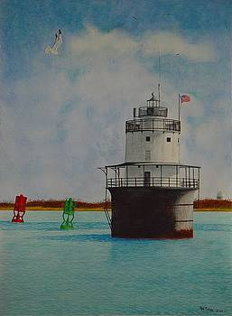 Butler Flats Lighthouse by Ron Sylvia