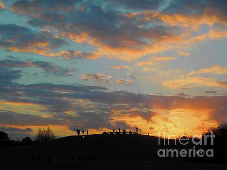 Felipe Adan Lerma - Butler Park Sunset Silhouette Austin Texas - One