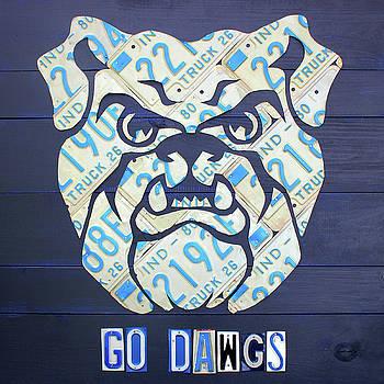 Design Turnpike - Butler University Indiana Bulldogs Mascot License Plate Art Logo