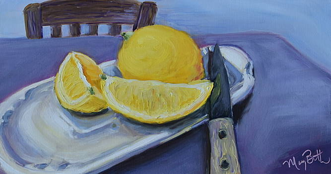 Butter Dish Lemons by Mary Beth Harrison