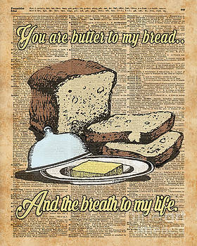 Butter to my bread.. Love Dictionary Art by Anna W